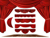 Theater STage Drape Elements to Create Y — Stock Photo