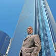 Royalty-Free Stock Photo: Serious Black Business Man Outdoors