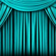 Abstract Teal Theatre Stage Drape Backgr - Stock Photo