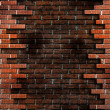 Brick Wall Background With Grunge Elemen - Stock Photo