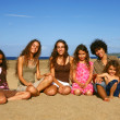 Family Time at the Beach — Stock Photo