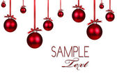 Red Christmas Holiday Ornament Backgrou — Stock Photo