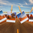 Stock Photo: Vacation Travel Concept With Polaroid Fi