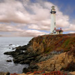 Stock Photo: Lighthouse Along the Coast