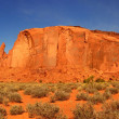 Giant Butte Panorama in Monument Valley, - Stock Photo