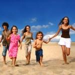 Running Children on the Beach — Stock Photo