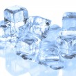 Stock Photo: Cool Ice Cubes Melting on a Reflective S