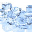 Cool Ice Cubes Melting on a Reflective S — Stock Photo