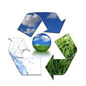 保持环境清洁和可循环 — 图库照片