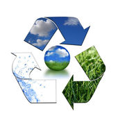 Keeping the Environment Clean With Recyc — Stock Photo