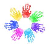 Hands of Children in School — Stock Photo