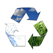 Keeping the Environment Clean With Recycling — Stock Photo