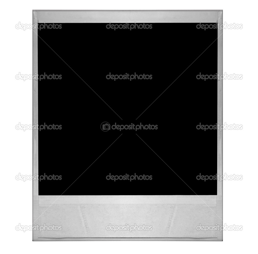 High Resolution Dingy Single old Polaroid Film Blank Isolated on White Background: Create Your Own Hanging  — Stock Photo #2269208