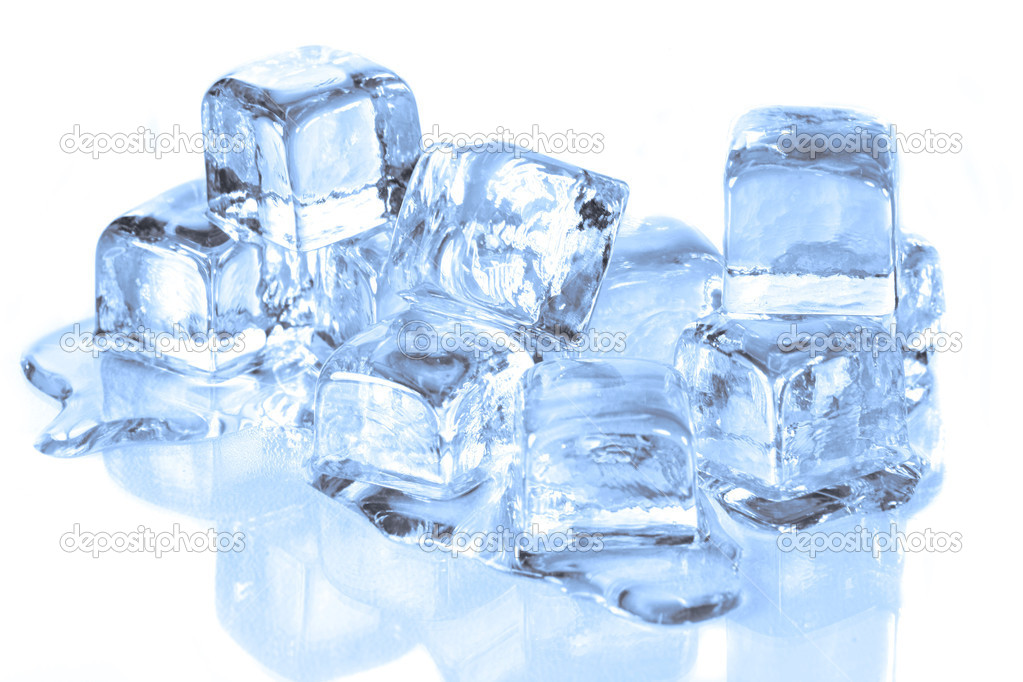 Ice Cubes Melting on a Reflective Surface  Stock Photo #2269454