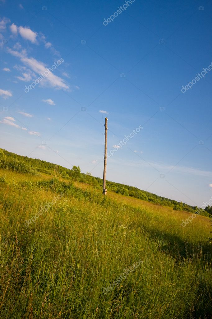 Damaged power pole — Stock Photo #2511340