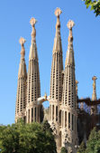 Sagrada Familia towers — Stock Photo