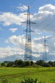 High voltage line — Stock Photo