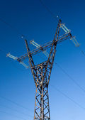 High voltage line mast — Stock Photo