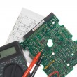 Printed circuit board, schematic and mul — Stock Photo #2449348