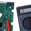 Printed circuit board and multimeter — Stockfoto #2572517