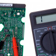 Printed circuit board and multimeter — Stock Photo #2572517