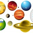 Solar_system_set - Stock Vector