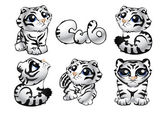 Tiger_cub — Stock Vector
