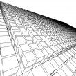 3d sketch monochrome architecture - Stock Photo