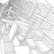 Stock Photo: 3d sketch monochrome architecture