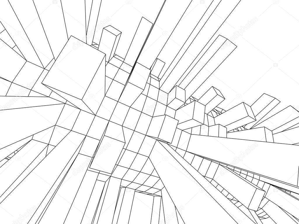 3d skizze monochrome architektur stockfoto 2162863 - Architektur skizze ...