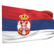 Flag of serbia — Stock Photo #2178234