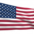 Foto de Stock  : Flag of The United states of america