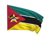 Flag of mozambique — Stock Photo
