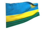 Flag of rwanda — Stock Photo
