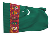 Flag of turkmenistan — Stock Photo