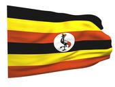 Bandera de uganda — Foto de Stock