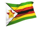 Vlajka zimbabwe — Stock fotografie