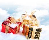 Box in snow — Stock Photo
