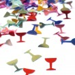 Stock Photo: Glasses in form of confetti
