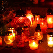 Stock Photo: Closeup of votive candles
