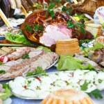Paskalya yemek — Stok fotoğraf
