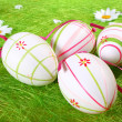 Pastel and colored Easter eggs — Stock Photo #2182205