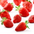 Strawberry on white - Stock Photo