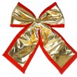 Gift bow isolated on white backgroun — Stock Photo