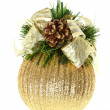 Royalty-Free Stock Photo: Christmas ball on a white backgro
