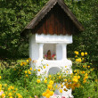 Stock Photo: Road Chapel in village, Poland