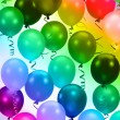 colorful party balloons background — Stock Photo