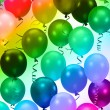 Colorful party balloons background - Stock Photo