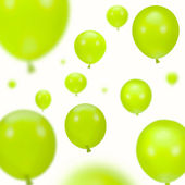 Background of green party balloons — Stock Photo