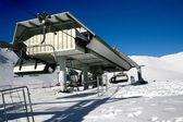 Ski station - landscape with ski lift — Stock Photo